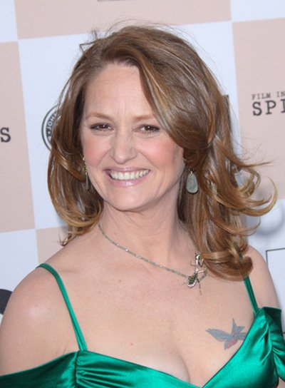 Melissa Leo Medium, Tousled, Brunette Hairstyle