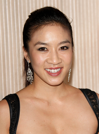 Michelle Kwan Straight, Chic, Black Ponytail