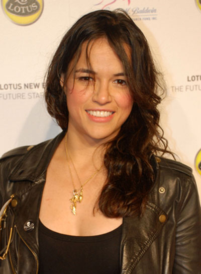 Michelle Rodriguez Long, Wavy, Tousled, Brunette Hairstyle