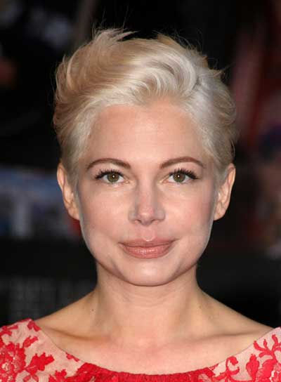 Michelle Williams Short, Blonde, Edgy Hairstyle