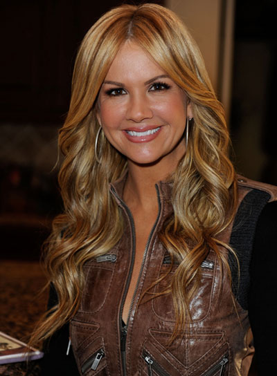 Nancy O'Dell Long, Curly, Romantic, Blonde Hairstyle