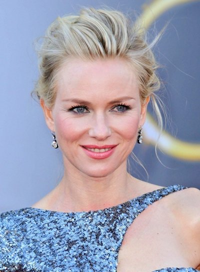 Naomi Watts' Chic, Tousled, Blonde, Updo Hairstyle