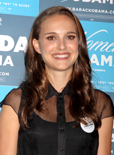 Natalie Portman's Chic, Wavy, Formal, Brunette Hairstyle
