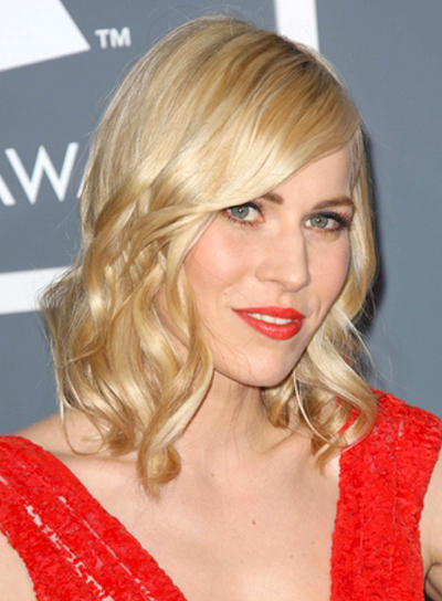 Natasha Bedingfield's Medium, Blonde, Wavy, Romantic Hairstyle