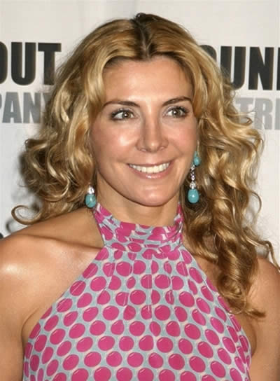 Natasha Richardson Long, Blonde, Curly Hairstyle with Highlights