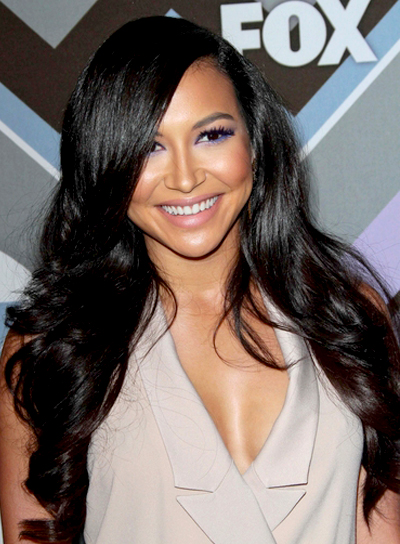 Naya Rivera's Long, Black, Wavy, Romantic Hairstyle