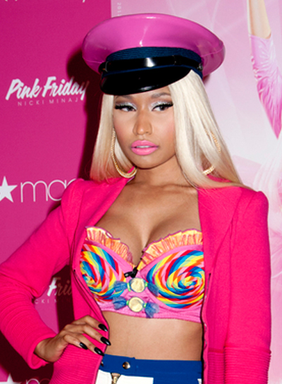 Nicki Minaj's Long, Straight, Blonde, Party Hairstyle