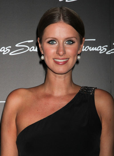 Nicky Hilton Straight, Chic, Brunette Updo