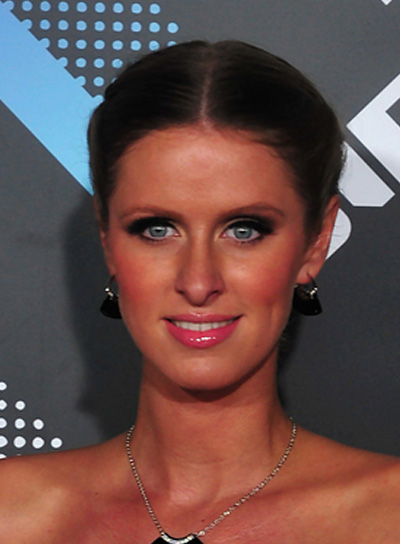 Nicky Hilton Sophisticated, Brunette, Prom Updo