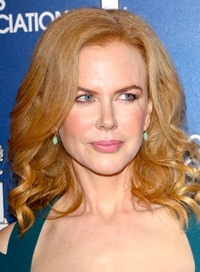 Nicole Kidman's Medium, Red, Curly, Romantic Hairstyle