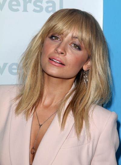 Nicole Richie Medium Straight Edgy Blonde Hairstyle With Bangs