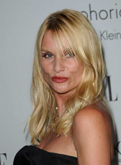 Nicollette Sheridan Medium, Blonde Hairstyle with Bangs