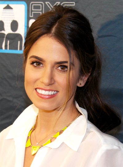 Nikki Reed's Long, Brunette, Wavy, Ponytail Hairstyle