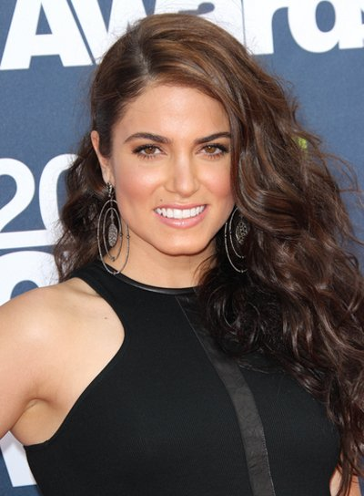Nikki Reed Long, Curly, Brunette Hairstyle