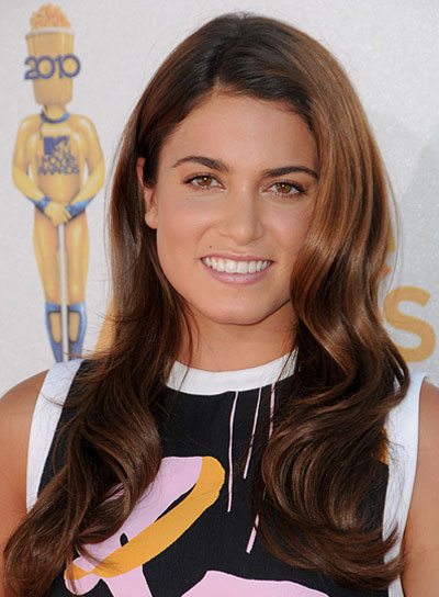 Nikki Reed Long, Brunette, Wavy Hairstyle
