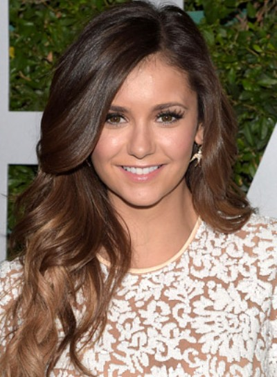 Nina Dobrev with a Sexy, Long, Layered, Curly Hairstyle Pictures