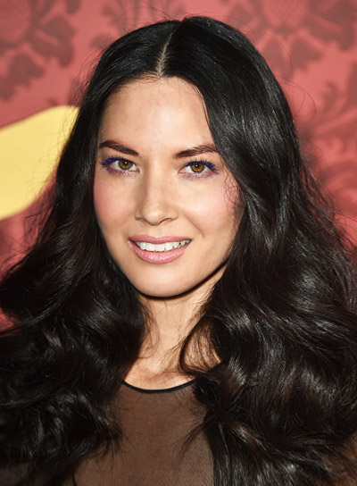 Olivia Munn with a Long, Curly, Funky, Black Hairstyle Pictures