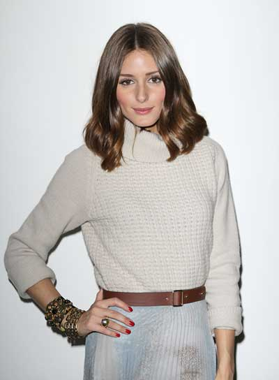 Olivia Palermo Medium, Chic, Brunette Hairstyle