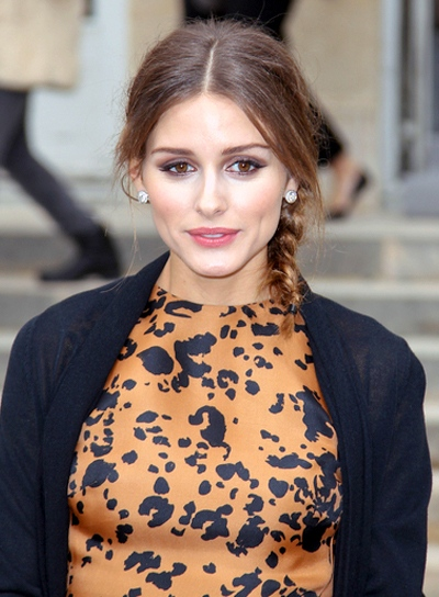 Olivia Palermo's Short, Layered, Tousled Hairstyle with Braids and Twists