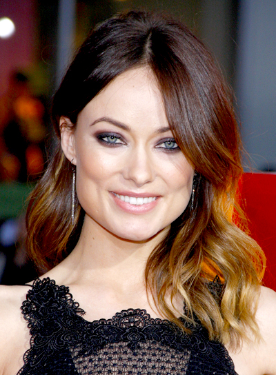 Olivia Wilde's Brunette, Medium, Wavy, Romantic Hairstyle