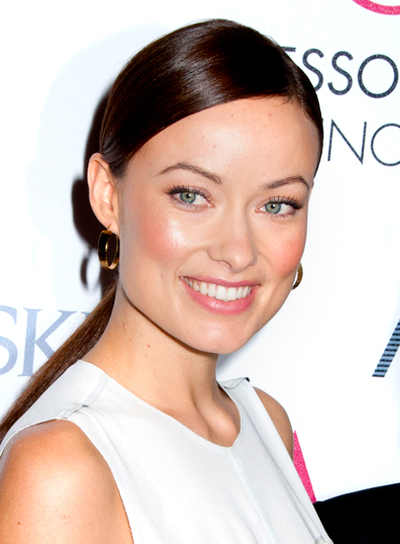 Olivia Wilde's Long, Chic, Brunette, Ponytail Hairstyle