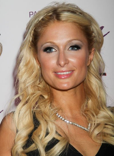 Paris Hilton Romantic, Curly Hairstyle with Braids and Twists