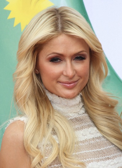 Paris Hilton Long, Blonde, Prom, Sophisticated Hairstyle