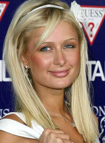 Paris Hilton Straight, Blonde Hairstyle for Homecoming