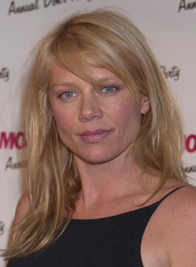 Peta Wilson Long, Straight, Blonde Hairstyle with Bangs