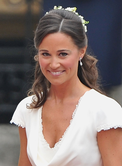 Pippa Middleton Sexy, Sophisticated, Curly, Brunette Half Updo