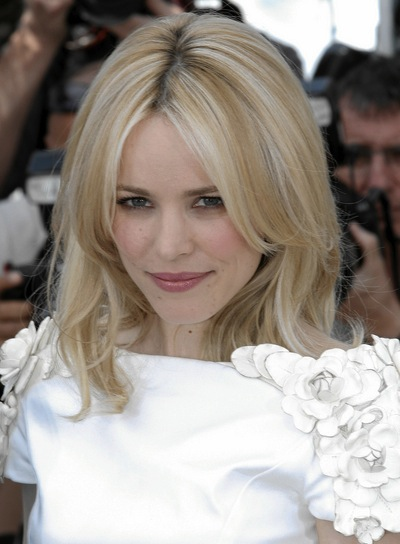 Rachel McAdams Medium, Layered, Straight, Blonde Hairstyle