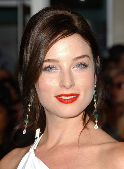 Rachel Nichols Long, Curly, Romantic, Brunette Hairstyle