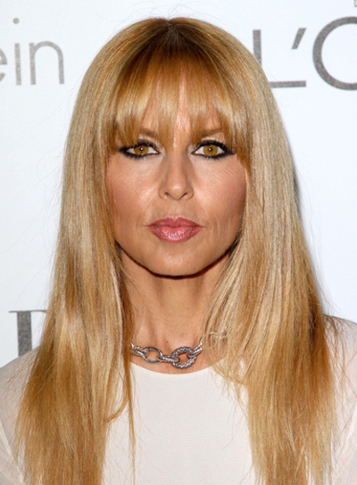 Rachel Zoe's Long, Chic, Blonde Hairstyle with Bangs