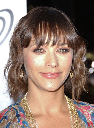 Rashida Jones Short, Wavy Bob with Bangs