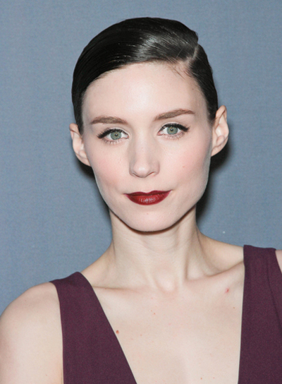 Rooney Mara Chic, Sophisticated, Straight, Black Updo
