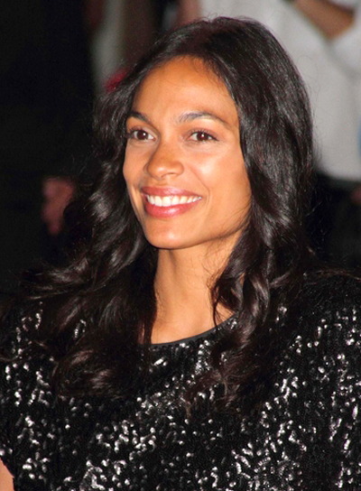 Rosario Dawson's Long, Romantic, Curly, Chic Hairstyle