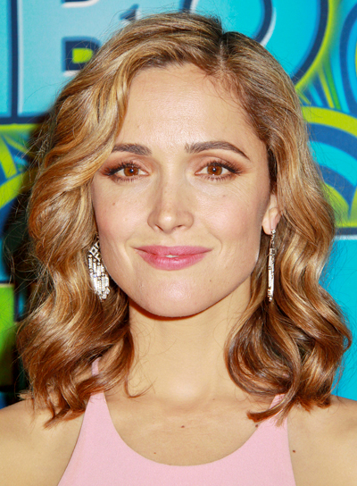 Rose Byrne's Blonde, Edgy, Chic, Updo Hairstyle