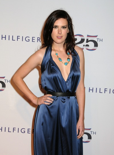 Rumer Willis Medium, Wavy, Tousled, Edgy, Brunette Hairstyle