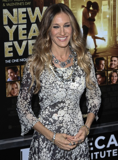 Sarah Jessica Parker Long, Wavy, Party Hairstyle