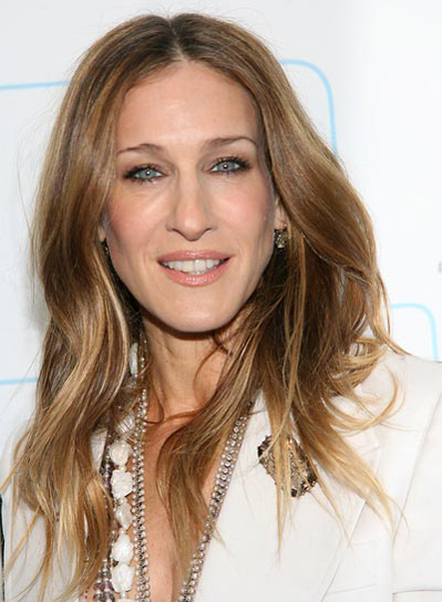 Sarah Jessica Parker Long, Tousled, Wavy Hairstyle