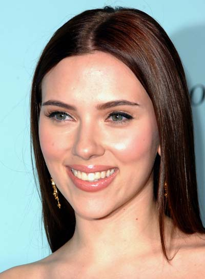 Scarlett Johansson Straight, Brunette, Long Hairstyle
