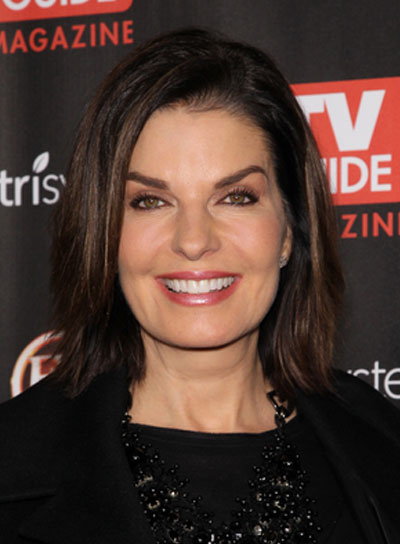 Sela Ward Medium, Straight, Sophisticated, Brunette Hairstyle