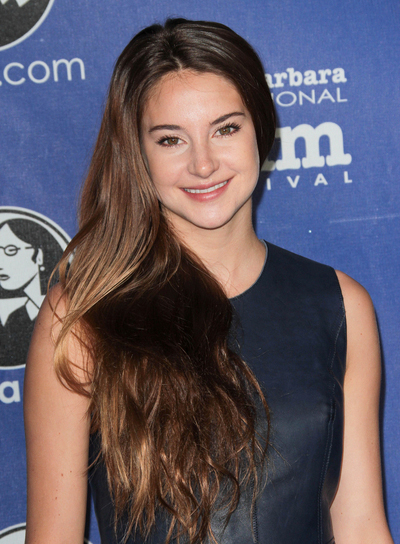 Shailene Woodley Long, Layered, Brunette Hairstyle