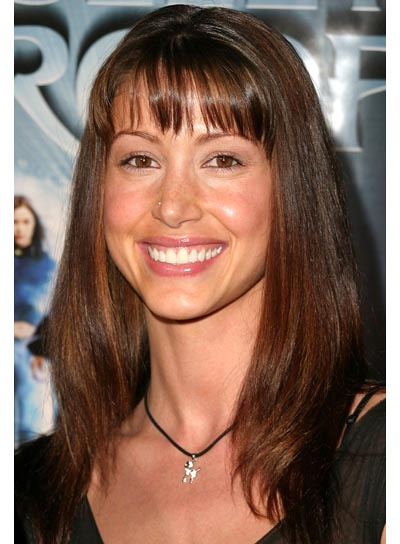Shannon Elizabeth Straight Hairstyle with Bangs