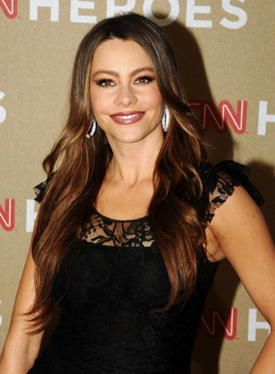 Sofia Vergara Long, Party, Brunette Hairstyle