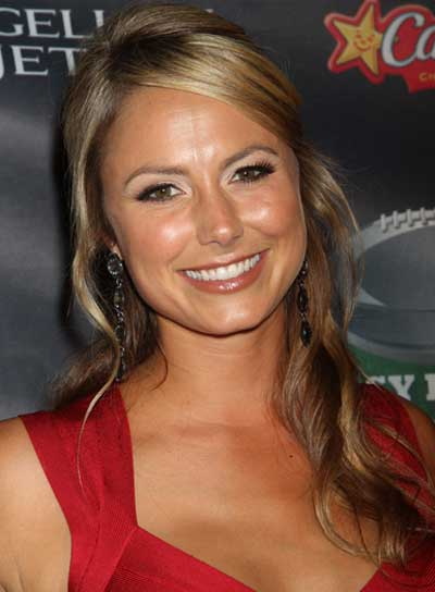 Stacy Keibler Long, Romantic, Blonde Half Updo