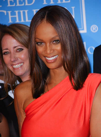 Tyra Banks Long, Straight Hairstyle