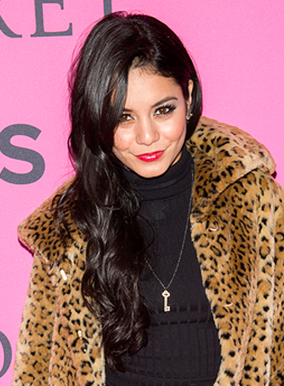 Vanessa Hudgens' Long, Wavy, Black, Chic, Hairstyle