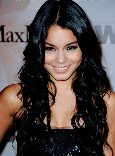 Vanessa Hudgens Long, Wavy, Black Hairstyle
