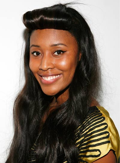 VV Brown Long, Funky Hairstyle